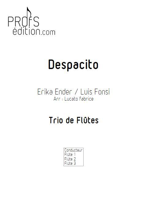 Despacito - Trio de Flûtes - FONSI L. - page de garde