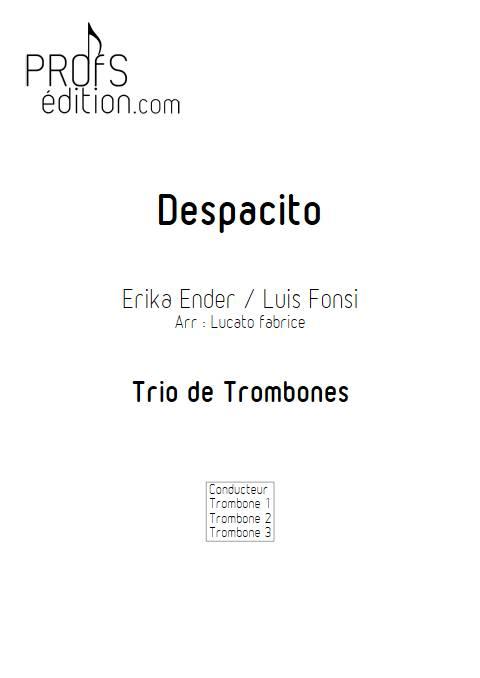 Despacito - Trio de Trombones - FONSI L. - page de garde