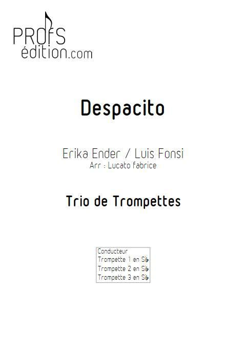 Despacito - Trio de Trompettes - FONSI L. - page de garde