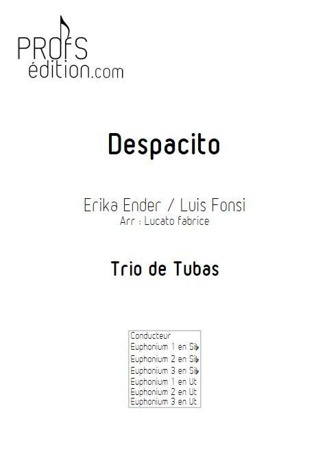 Despacito - Trio de Tubas - FONSI L. - page de garde