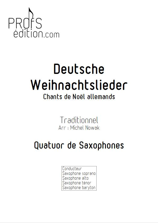 Deutsche Weihnachtslieder - Quatuor de Saxophones - TRADITIONNEL ALLEMAND - page de garde
