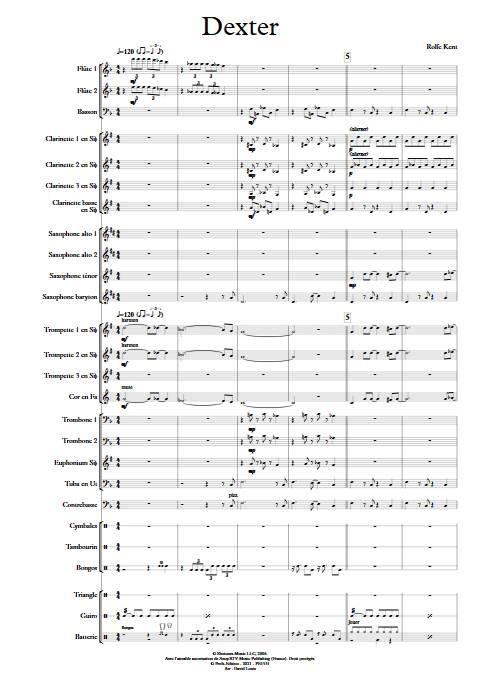 Dexter - Orchestre d'Harmonie - KENT R. - app.scorescoreTitle