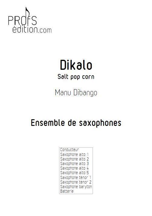 Dikalo - Ensemble de saxophones - DIBANGO M. - page de garde