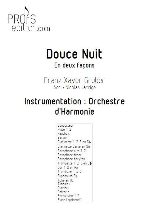 Douce nuit - Orchestre d'harmonie - GRUBER F. X. - page de garde