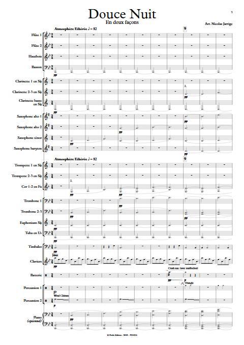 Douce nuit - Orchestre d'harmonie - GRUBER F. X. - Partition