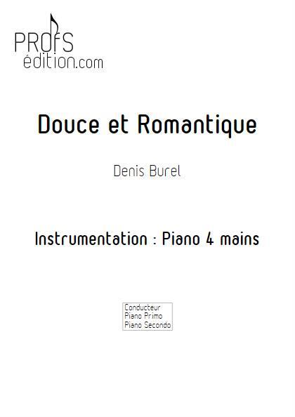 Douce et Romantique - Piano 4 mains - BUREL D. - page de garde