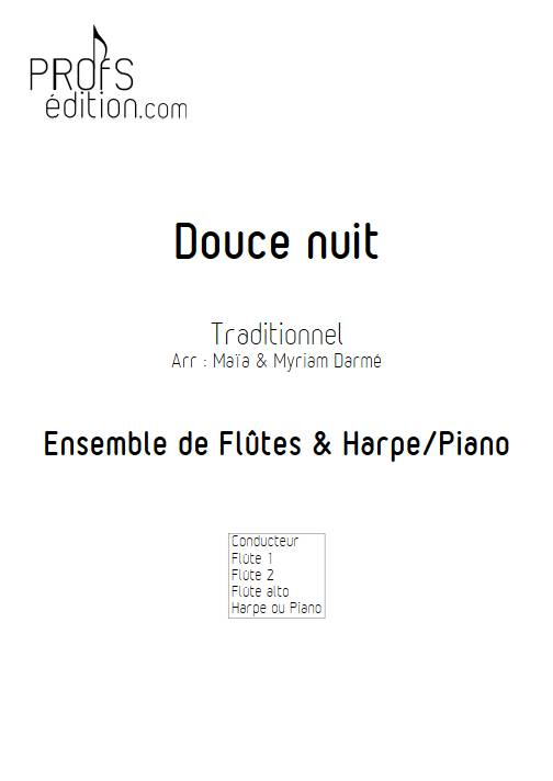 Douce nuit - Ensemble de flûte et piano ou harpe - TRADITIONNEL - page de garde