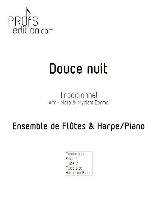 Douce nuit - Ensemble de flûte et piano ou harpe - TRADITIONNEL - page de garde