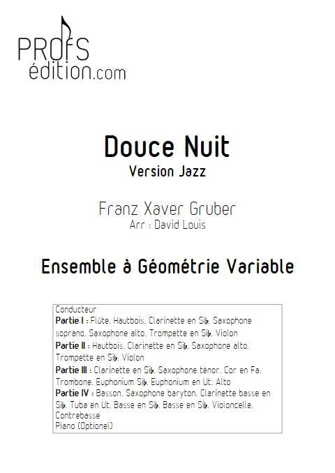 Douce nuit Jazz - Ensemble Variable - GRUBER F. X. - page de garde