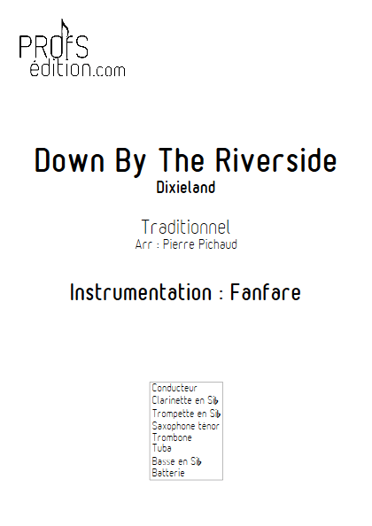 Down by the riverside- Fanfare - TRADITIONNEL - page de garde