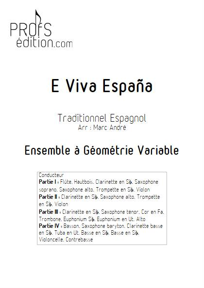 E Viva España - Ensemble Variable - Traditionnel Espagnol - page de garde