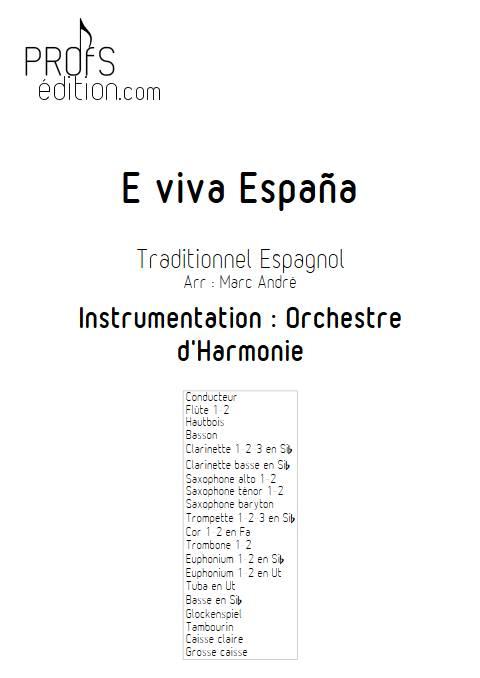 E Viva España - Orchestre d'Harmonie - Traditionnel Espagnol - page de garde