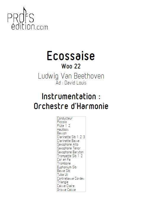 Ecossaise - Orchestre d'Harmonie - BEETHOVEN L.V. - page de garde