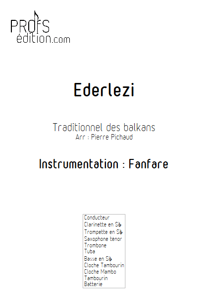 Ederlezi - Ensemble à Géométrie Variable - TRADITIONNEL - page de garde