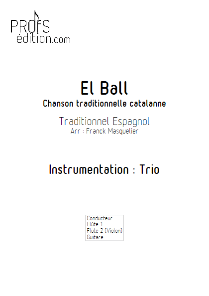 El Ball - Trio Flûtes et Guitare - Traditionnel - page de garde
