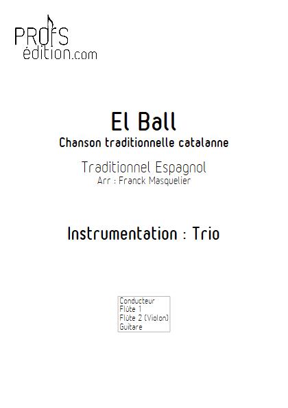 El Ball - Trio Flûtes et Guitare - Traditionnel - page de garde