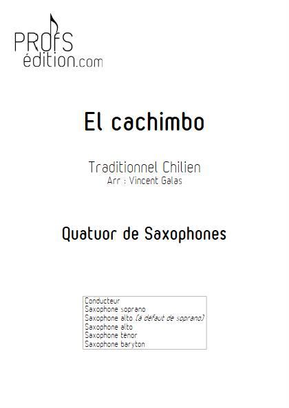 El Cachimbo - Quatuor de Saxophones - TRADITIONNEL CHILIEN - page de garde