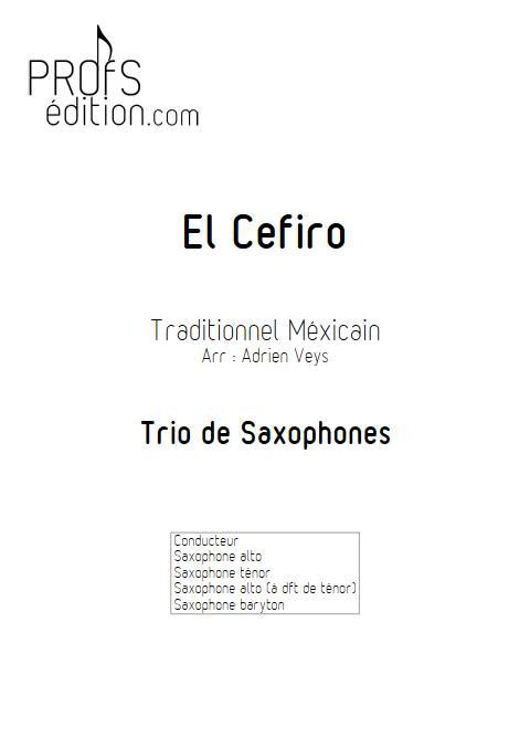 El Cefiro - Trio de Saxophones - Traditionnel Mexicain - page de garde