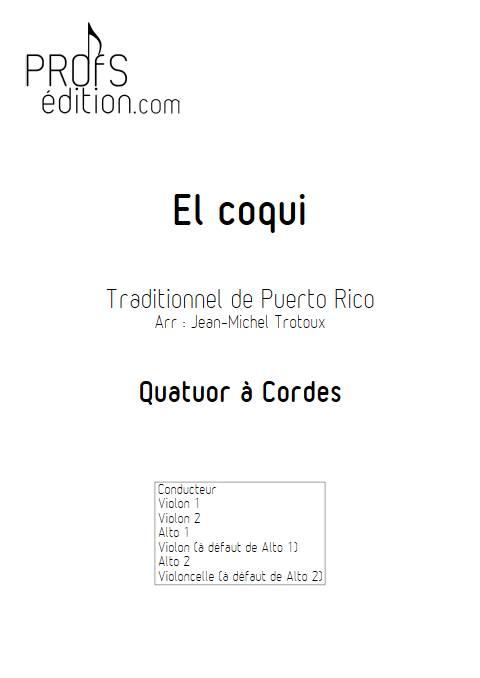 El coqui - Quatuor à Cordes - TRADITIONNEL CREOLE - page de garde
