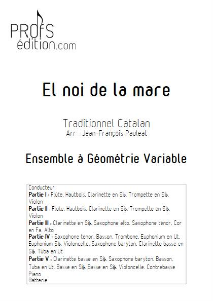 El noi de la mare - Ensemble Variable - TRADITIONNEL CATALAN - page de garde