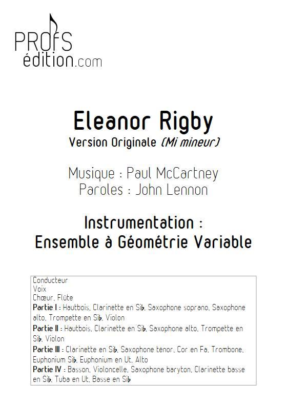 Eleonor Rigby - Ensemble Variable - MCCARTNEY P. - page de garde