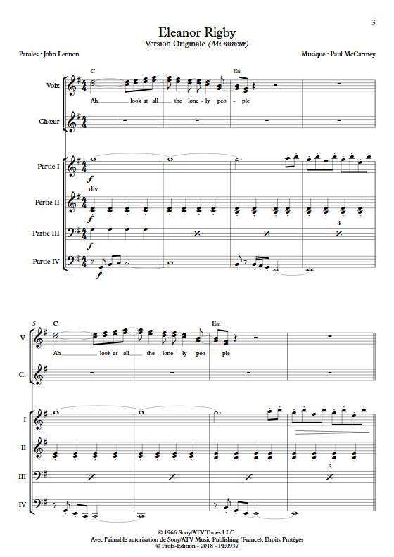 Eleonor Rigby - Ensemble Variable - MCCARTNEY P. - app.scorescoreTitle