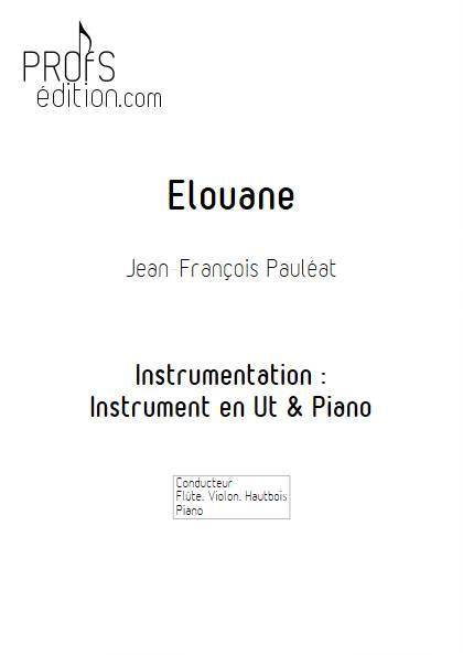 Elouane - Instrument & Piano - PAULEAT J.F. - page de garde