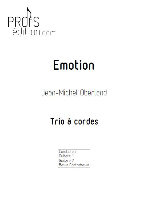 Emotion - Trio à Cordes - OBERLAND J.M. - page de garde