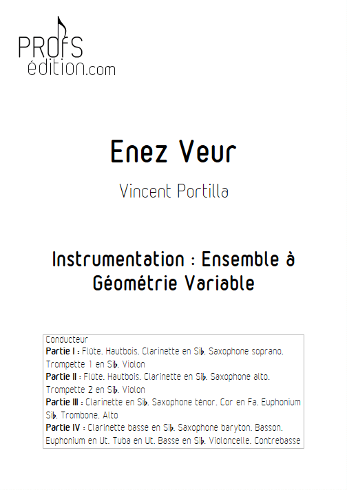 Enez Veur - Ensemble à Géométrie Variable - PORTILLA V. - page de garde