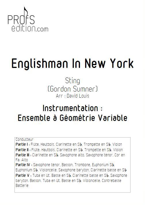 Englishman in New York - Ensemble Variable - STING - page de garde