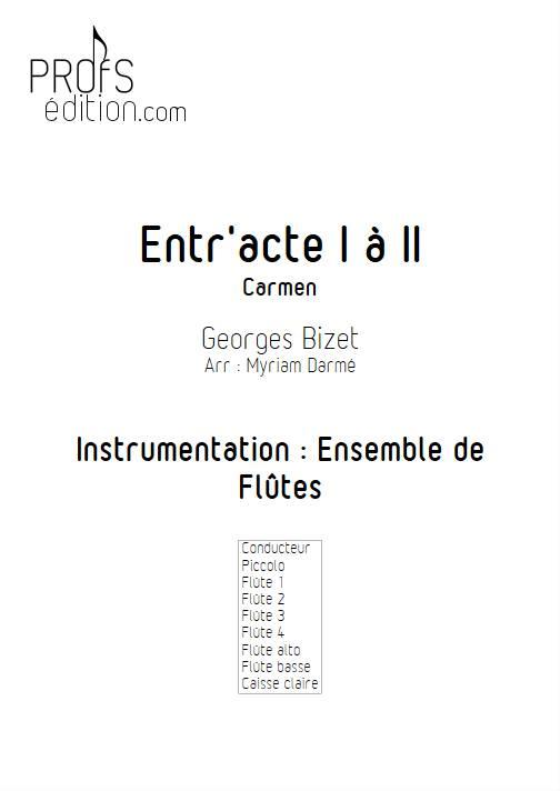 Entracte - Ensemble de Flûtes - BIZET. G. - page de garde