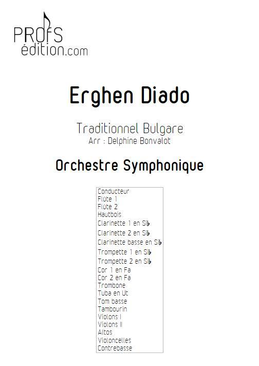 Erghen diado - Orchestre Symphonique - BONVALOT D. - page de garde