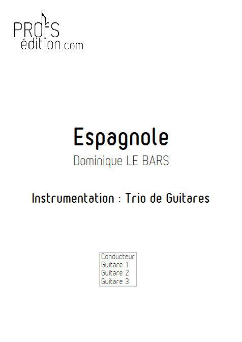 Espagnole - Trios Guitare - LE BARS D. - page de garde