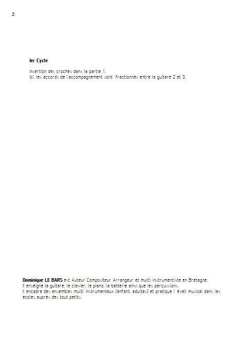 Espagnole - Trios Guitare - LE BARS D. - Fiche Pédagogique