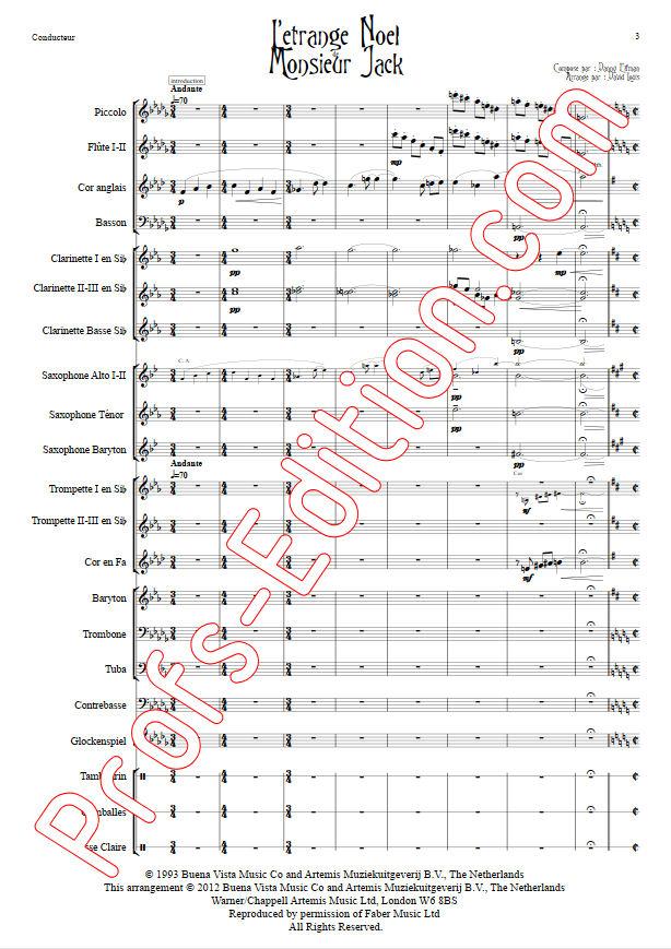 L'étrange Noël de Monsieur Jack - Orchestre Harmonie - ELFMAN D. - Partition