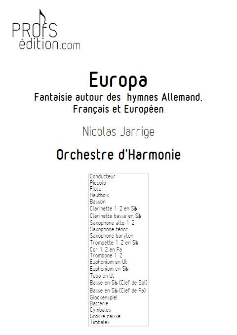 Europa - Orchestre d'Harmonie - JARRIGE N. - page de garde