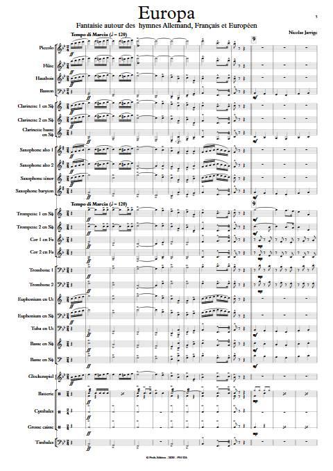 Europa - Orchestre d'Harmonie - JARRIGE N. - app.scorescoreTitle
