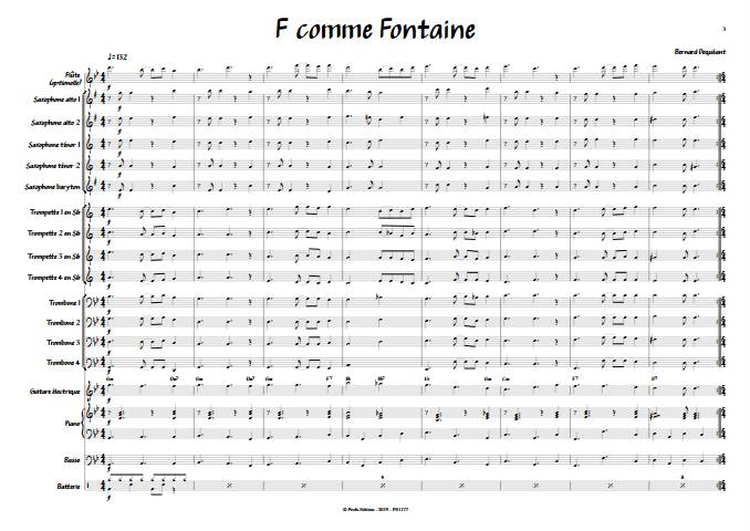 F comme Fontaine - Big Band - DECQUEANT B. - app.scorescoreTitle