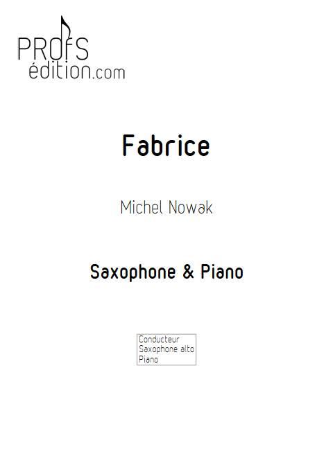 Fabrice - Saxophlne & Piano - NOWAK M. - page de garde