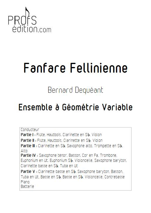 Fanfare Fellinienne - Ensemble Variable - DEQUEANT B. - page de garde