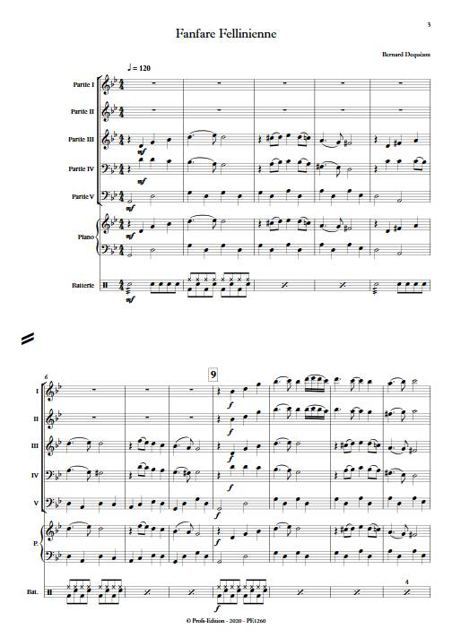 Fanfare Fellinienne - Ensemble Variable - DEQUEANT B. - app.scorescoreTitle