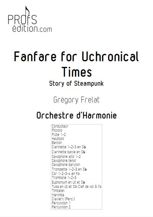 Fanfare for Uchronical Times - Orchestre d'Harmonie - FRELAT G. - page de garde