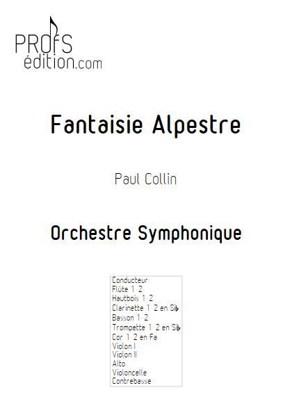 Fantaisie Alpestre - Orchestre Symphonique - COLLIN P. - page de garde