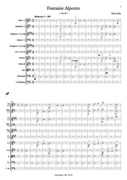 Fantaisie Alpestre - Orchestre Symphonique - COLLIN P. - app.scorescoreTitle