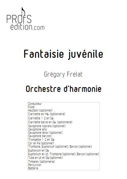 Fantaisie Juvénile - Orchestre d'Harmonie - FRELAT G. - page de garde