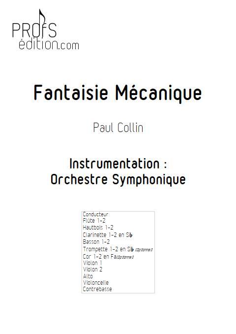 Fantaisie Mécanique - Orchestre Symphonique - COLLIN P. - page de garde