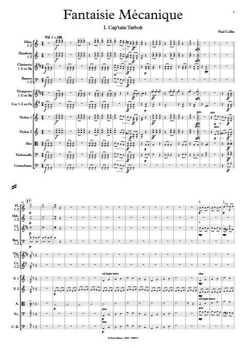 Fantaisie Mécanique - Orchestre Symphonique - COLLIN P. - Partition