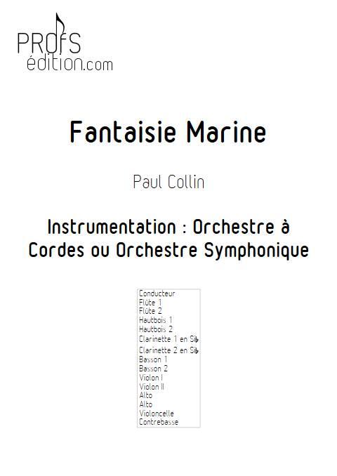 Fantaisie Marine - Orchestre Symphonique - COLLIN P. - page de garde