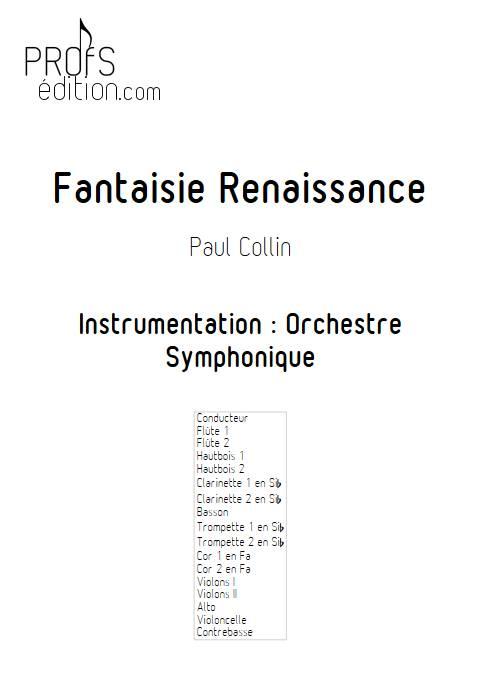 Fantaisie Renaissance - Orchestre Symphonique - COLLIN P. - page de garde