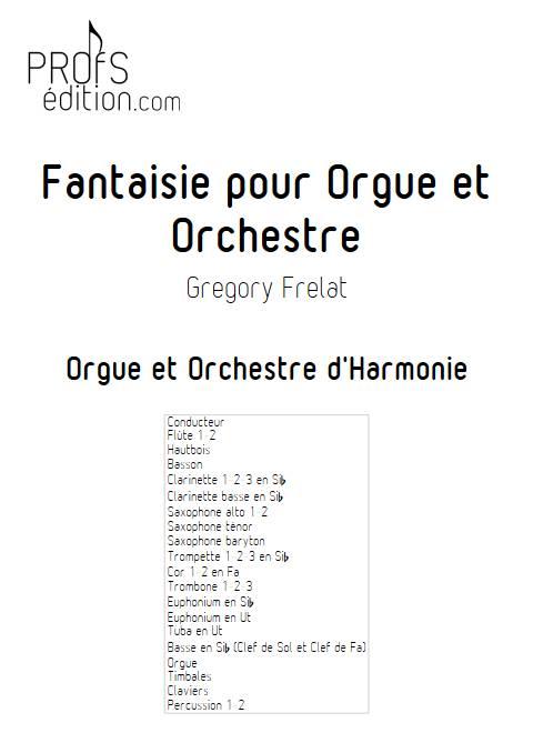 Fantaisie pour Orgue et Orchestre - Orgue et Orchestre - FRELAT G. - page de garde